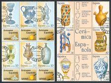 ESPAÑA 1987/88 - 2 HOJAS BLOQUE ARTESANÍA ESPAÑOLA - MATASELLOS BARCELONA