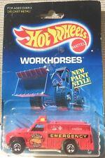 "Hot Wheels ""RARE"" Workhorses-Rescue Ranger 1986 (NIB)"