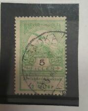 stamp hungary 1913 - fine used - 5 f + 2 f - lot 42