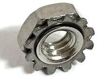 Stainless Steel 1/4-20 Keps Nuts K-Locks Qty 250