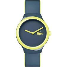 LACOSTE GOA UNISEX 40MM BLUE RUBBER BAND PLASTIC CASE QUARTZ WATCH 2020121