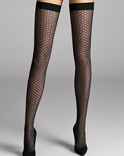 Wolford Lilien Thigh Highs Stay-ups Hold-ups COLOR: Black SIZE: Medium 28096