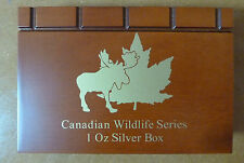 Canadian Wildlife Wooden Coin Box for 6 X 1 oz Silver Coins