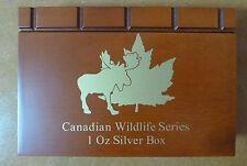 CANADIAN Wildlife LEGNO MEDAGLIA Box per 6 x 1 oz monete d'argento