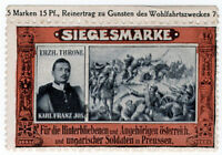 (I.B-CK) Germany (Great War) Cinderella : Siegesmarke (Karl Franz Josef)