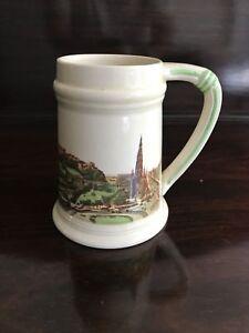BRENTLEIGH WARE Staffordshire England Edinburgh Historic Mug Cup 1940s/1950s