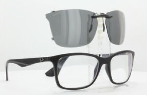 Custom Fit Polarized CLIP-ON Sunglasses For RAY-BAN RB7047-58X17-TAB RB-7047