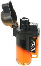 Jet Torch Lighter Tie dye Adjustable Windproof Butane Refillable Orange Color 39