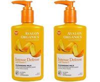 2x AVALON ORGANICS Intense Defense With Vitamin C Cleansing Milk 8.5oz Face Wash