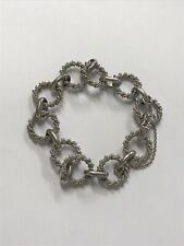 Unique silver bracelet with stunning twisting rope design