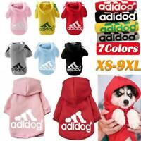Adidog Haustiere Hunde Kleidung Kleine Welpen Hoodie Mantel Jacke Kleidung