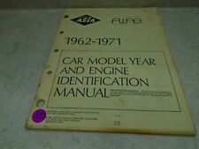 ASIA AWAE Automotive Service Indication Book Manual 1962-1971 VP-CM127