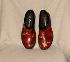 Sloggers Womens Size 9 Red Rubber/Manmade Materials Clogs