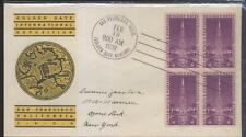 1939 GOLDEN GATE EXPOSITION Cachet w/4 Stamps