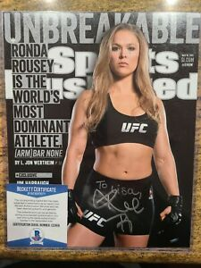 Ronda Rousey Sports Illustrated Autographed picture BECKETT COA UFC MMA WWE