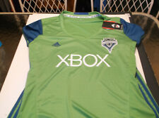 Seattle Sounders FC MLS Adidas Climalite Womens'  soccer jersey XXL