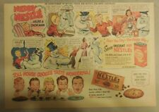 Nestle's Cocoa Ad: Neddy Nestle Helps A Snowman ! 1940's-50's 11 x 15 inches
