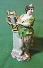 Euterpe, muse de la Musique en porcelaine de Saxe 11,5 cm -