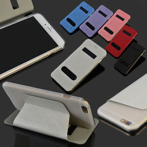 For Apple iPhone 4s 6s Plus Case S-CH Window Leather Card Full coverage Stand