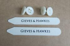 GIEVES & HAWKES SHIRT COLLAR STAYS BONES STIFFNERS & BUTTON CUFFLINKS