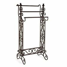 Towel Rack Quilt Stand Bathroom Vintage Narrow Blanket Cast Iron Storage Bedroom