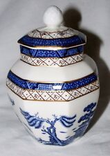 """ROYAL DOULTON VINTAGE BOOTHS REAL OLD WILLOW HEXAGONAL GINGER JAR 6"""" EX CON"""