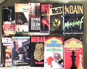 Ed McBain Job Lot Of 11 Paperbacks Vanishing Ladies Gutter & The Grave til Death
