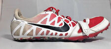 NIKE Zoom Rival S 6 Track Field Running Sprint Spikes Shoes White Red US 15
