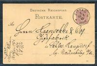 Deutsche Reichspost Ganzsache 5 Pfg. Stempel Zittau - b4356