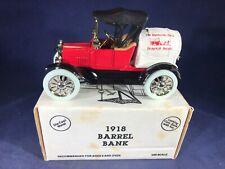 E3-73 ERTL 1:25 SCALE DIE CAST BANK - 1918 BARREL CAR - DYERSVILLE HISTROICAL SO