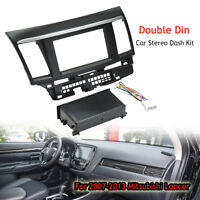 Car Stereo Single Double Din Dash Wiring Harness Kit For 07-13 Mitsubishi Lancer