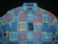Gant Men's Patch work Madras Multicoloured Shirt - Size M  BNWT
