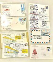 Vintage Cancelled Stamped Envelopes Aviation 1983/84/86/87 Lot of 9