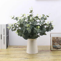 1PC Green Artificial Leaves Fake Plant Branches Eucalyptus Grass Home Decor Gift