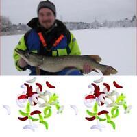 100pcs Soft Baits Maggot Grub Soft Lure Worm Artificial Carp Fishing Lures