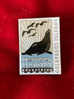 Galapagos Islands Natural Habitat Adventures Epoxy Enamel Tie Lapel Pin 1.25