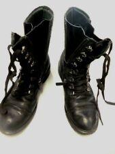 Designer BOOTS Sz 40 by Wittner PUNK Goth GLAMAZON! Black zip access/rubber sole
