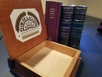 Set of 4: Empty Book-style Cigar Box - Assorted, wooden