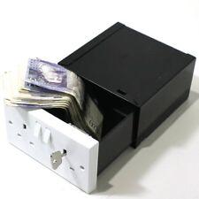 Imitation Double Plug Socket Wall Safe Security Box lockable with 2 Keys
