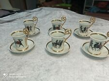 6 superbe tasse a café en porcelaine de limoges signé S.A