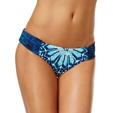 NEW Lucky Brand Batik Chik Reversible Side Sash Bikini Swim Bottom IKB M Medium