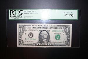 1999 $1 One Dollar Radar Note-  SUPER HIGH GRADE 67PPQ RADAR FANCY SERIAL NUMBER