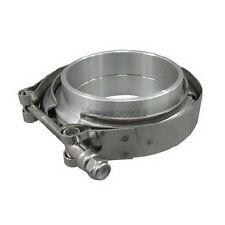 "3.5"" Aluminum Vband V-Band Clamp Flange kit w/ O-ring seal Turbo Intercooler"