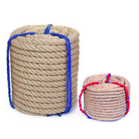 2m/5m Hand-woven Hemp Rope Thinck Jute Twine Cord DIY Photo Wall Fence String