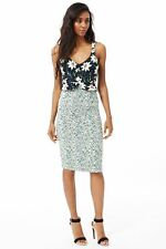 Calf Length Party Floral Synthetic Dresses for Women