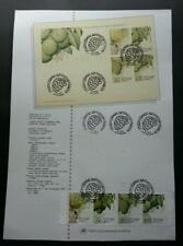 Portugal Fruits And Sub Tropical Plants 1990 Banana Food (stamp on info sheet)