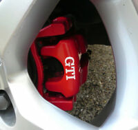 GTI CALIPER DECAL SET PEGATINAS FRENOS VOLKSWAGEN GOLF POLO  STICKERS ADESIVI