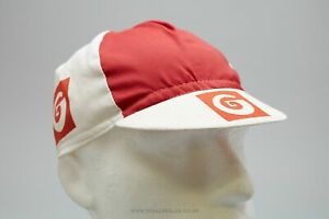 Vintage Red/White Cycling Cap - Classic Retro