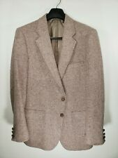 VTG Adams Row Tweed Wool Mens Size 40S (Tagged 42MR) Gray Blazer/Sport Coat GVC