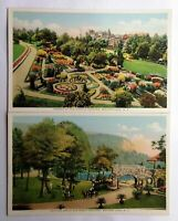 Mohonk Lake, NY Postcards Colorized Vintage Gardens & Golf 1900s Pair (2) Cards